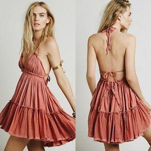 NWOT Free People 100 Degree dress pink